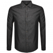 Emporio Armani Long Sleeve Chambray Shirt Black